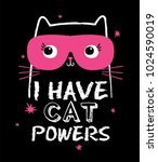 Stock vector super hero cat illustration as vector 1024590019