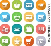 flat vector icon set   shop... | Shutterstock .eps vector #1024590094