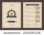 coffee shop logo and menu... | Shutterstock .eps vector #1024592128