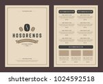 coffee shop logo and menu... | Shutterstock .eps vector #1024592518