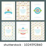 happy birthday greeting cards... | Shutterstock .eps vector #1024592860