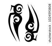 tattoo tribal vector design.... | Shutterstock .eps vector #1024593808