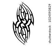 tattoo tribal vector design.... | Shutterstock .eps vector #1024593829