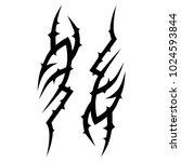 tattoo tribal vector design. | Shutterstock .eps vector #1024593844