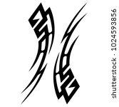 tattoo tribal vector design....   Shutterstock .eps vector #1024593856
