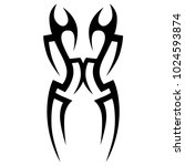 tattoo tribal vector design.... | Shutterstock .eps vector #1024593874