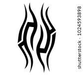 tattoo tribal vector design. | Shutterstock .eps vector #1024593898