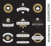 happy birthday badges and... | Shutterstock .eps vector #1024595290