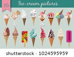 vector set with colour ice cream | Shutterstock .eps vector #1024595959