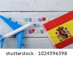 travel time   colorful wooden... | Shutterstock . vector #1024596598