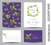 save the date wedding cards set ... | Shutterstock .eps vector #1024597690