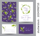 save the date wedding cards set ... | Shutterstock .eps vector #1024598710