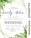 wedding floral invitation ... | Shutterstock .eps vector #1024600753
