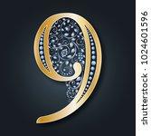 ornamental figure 9.... | Shutterstock .eps vector #1024601596