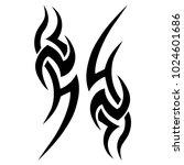 tattoo tribal vector design.... | Shutterstock .eps vector #1024601686