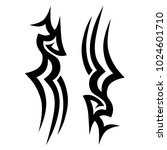 tattoo tribal vector design.... | Shutterstock .eps vector #1024601710