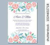 wedding invitation template... | Shutterstock .eps vector #1024602718