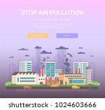 stop air pollution   modern...   Shutterstock .eps vector #1024603666