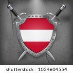 flag of austria. the shield... | Shutterstock .eps vector #1024604554