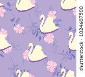 swan lake seamless pattern   Shutterstock .eps vector #1024607500