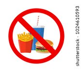 no hamburger  french fries and... | Shutterstock .eps vector #1024610593