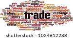 trade word cloud concept.... | Shutterstock .eps vector #1024612288