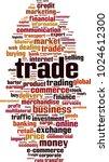 trade word cloud concept.... | Shutterstock .eps vector #1024612300