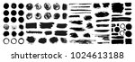 mega collection of hand drawn... | Shutterstock .eps vector #1024613188