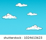 sky with clouds halftone design ... | Shutterstock .eps vector #1024613623