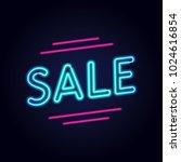 sale neon sign. vector... | Shutterstock .eps vector #1024616854