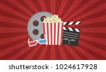 movie poster template for the... | Shutterstock .eps vector #1024617928
