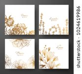 gold collection of cards design ... | Shutterstock .eps vector #1024619986