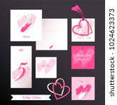 wedding collection. invitation... | Shutterstock .eps vector #1024623373
