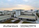 modern industrial plant in... | Shutterstock . vector #1024625974