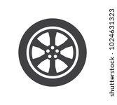car wheel. illustration on... | Shutterstock .eps vector #1024631323