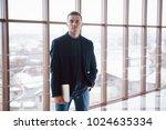 happy young business man work... | Shutterstock . vector #1024635334