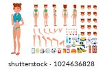 woman in swimsuit vector.... | Shutterstock .eps vector #1024636828