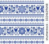 scandinavian seamless vector... | Shutterstock .eps vector #1024639648