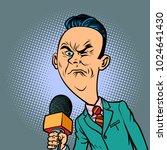 wrinkled nasty bad reporter... | Shutterstock .eps vector #1024641430