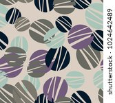 seamless round doodle pattern | Shutterstock .eps vector #1024642489