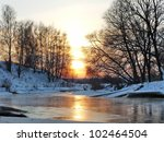 Wonderful Winter Sunset Over...