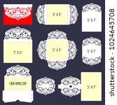 laser cut template. big set of...   Shutterstock .eps vector #1024645708