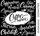 coffee menu template. creative... | Shutterstock .eps vector #1024647583