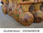 pottery fine workmanship in... | Shutterstock . vector #1024648528