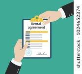 rental agreement form contract. ... | Shutterstock .eps vector #1024652374