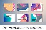 original presentation templates.... | Shutterstock .eps vector #1024652860