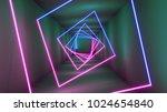 3d rendering neon lights...   Shutterstock . vector #1024654840
