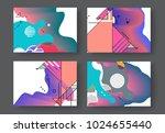 original presentation templates.... | Shutterstock .eps vector #1024655440