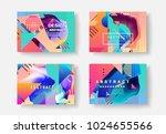original presentation templates....   Shutterstock .eps vector #1024655566
