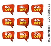 set of discount red tags or... | Shutterstock .eps vector #1024655788